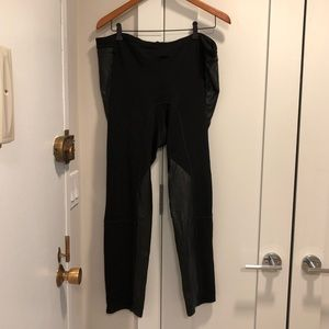 Madewell Pants with Faux Leather Panels